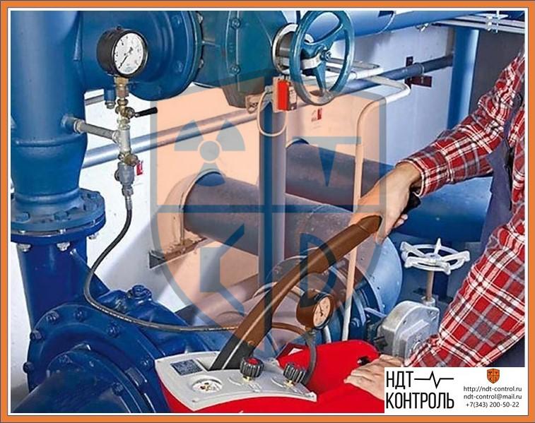 Подача давления в трубопроводы с целью опрессовки